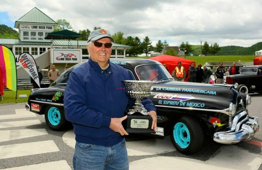 Oldsmobile Rocket 88 La Carrera Panamericana race car. Picture - Lime Rock PArk