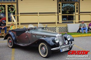David Werblow's 1954 MG TF 1250 Roadster is a striking example of a classic British sports car.