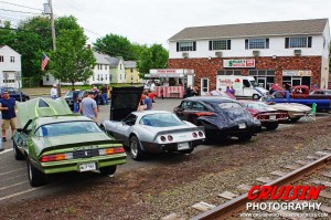 Classics and hot rods mingle with muscle cars in the parking lot at Spada's Café.