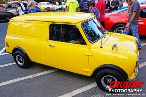 Tom and Marsha Judson's 1964 yellow Minivan caused more than a few double takes.