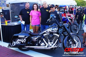 Johnnie Moore, Mariah Moore, George Ryan and Michael Freedman promote the upcoming Zombie Biker Chili Cookoff benefit on Sept. 21.