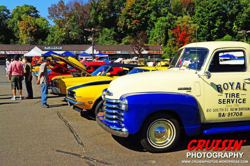 Some of the many vehicles on display at the Connecticut Street Legends' 9th Annual Rocky Hill Food Pantry Benefit Car Show.